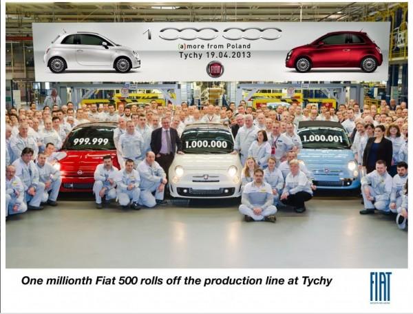 One Million Fiat 500