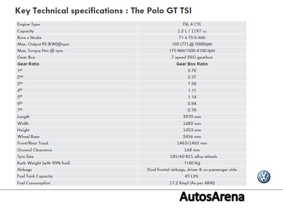 Polo gt polo gt sport polo gt sport features polo gt sport goa - Vw Polo Gt Specs