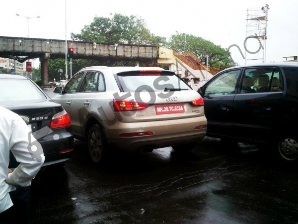 Spotted earlier on test in Mumbai, the Q3 S skimps on LED tail-lamps and front day-time running lights.