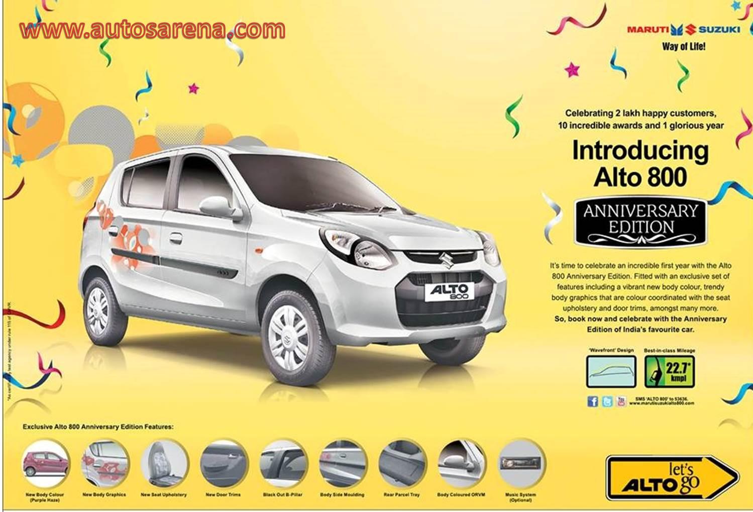 Maruti Suzuki Launches Alto Anniversary Edition - Graphics for alto car