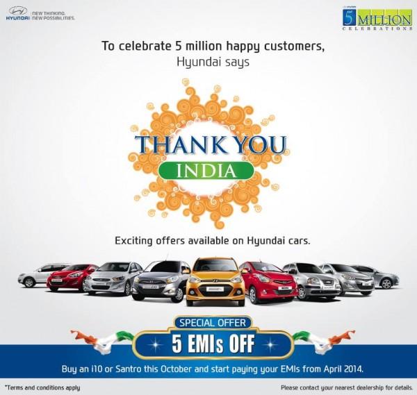 Hyundai 5 million celebrations