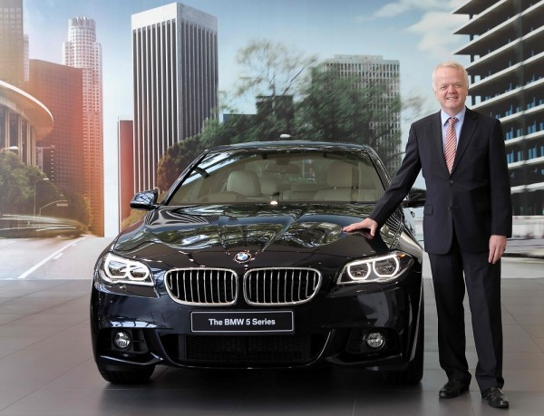 Mr. Philipp von Sahr, President, BMW Group India with the new BMW 5 Series