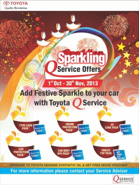Toyota Q Service Sparkling offers