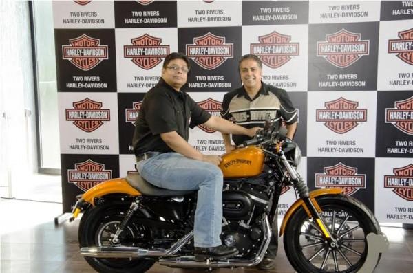 Anoop Prakash, Managing Director Harley-Davidson India, Sunil Christian, Dealer Principal, Two Rivers Harley-Davidson