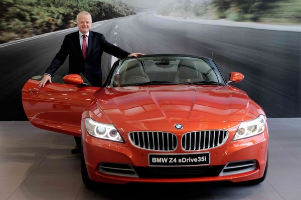 Mr. Philipp von Sahr, President, BMW Group India with the new BMW Z4 a
