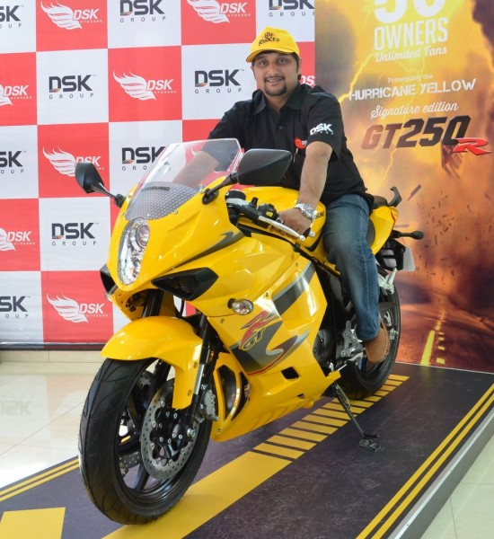 Signature Edition GT250 R LE with Mr. Shirish Kulkarni