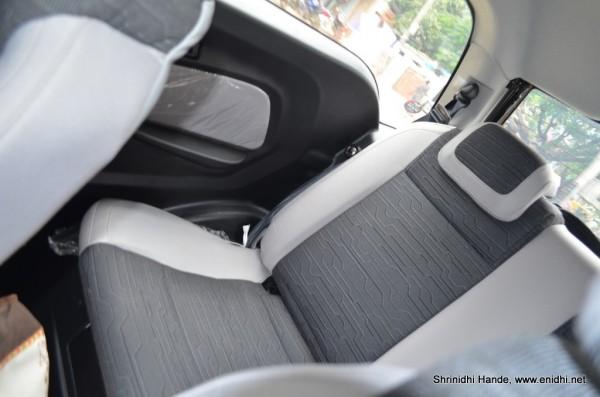 rear seat in reva e22o