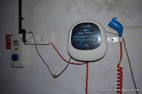 reva e20 charging socket
