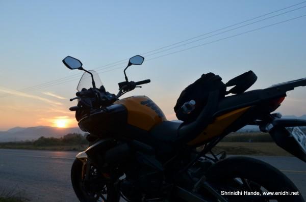 sunset and kawasaki