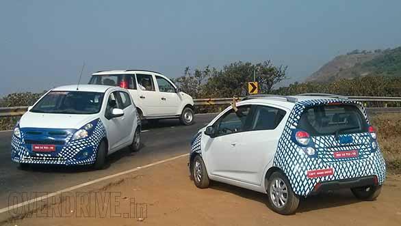Chevrolet-Beat-Facelift caught test 2