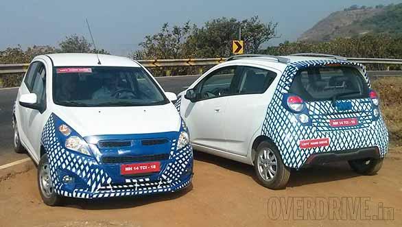 Chevrolet-Beat-Facelift caught test
