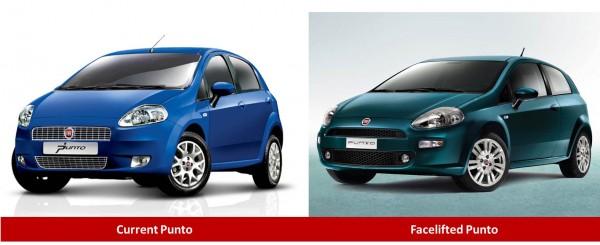 Fiat Punto comparison front