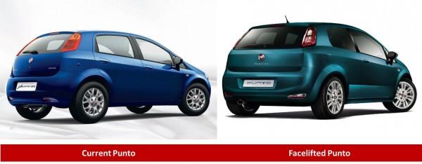 Fiat Punto comparison rear