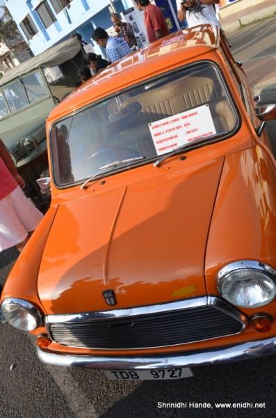 Mini cooper orange front