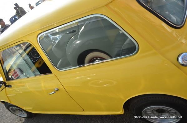 Yellow Morris Minor