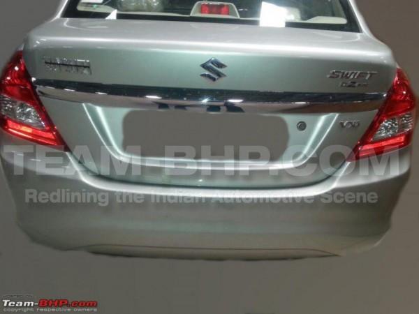 Maruti Suzuki Dzire facelift spy pics rear