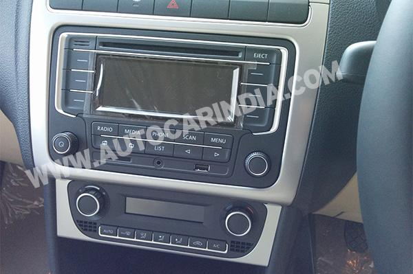 2014 Polo Facelift audio system