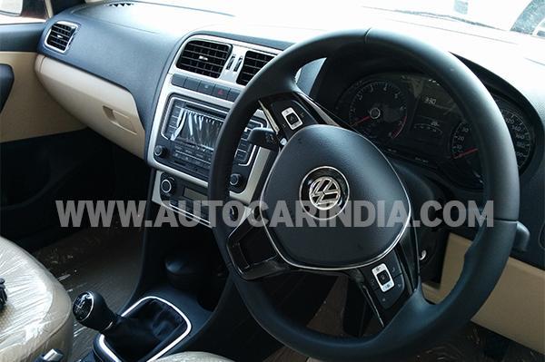 Polo facelift 3 spoke steering wheel