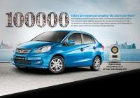 Honda Amaze 100,000 sales
