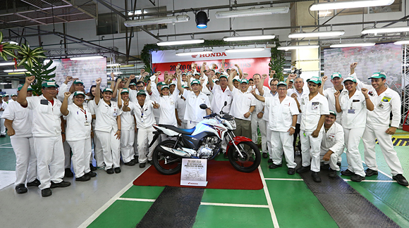 Honda Brazil 20 million Line-off ceremony