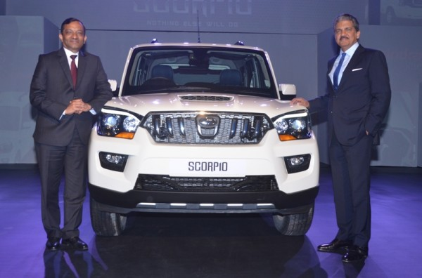 Mr. Anand Mahindra, Chairman, Mahindra Group & Dr Pawan Goenka, Executive Director, M&M Ltd, at the launch of the New Generation Scorpio in Mumbai,