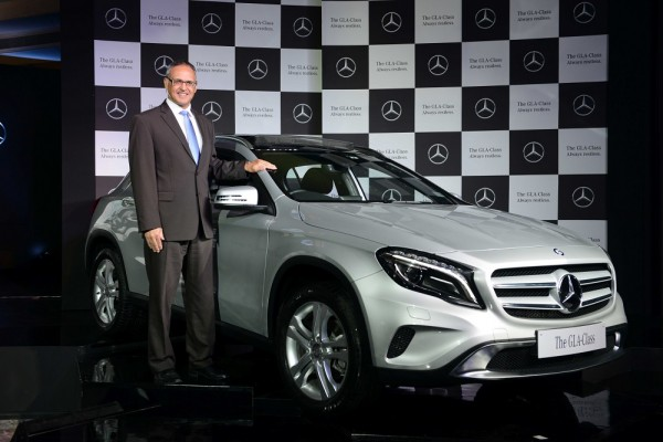 Mr. Eberhard Kern, Managing Director & CEO, Mercedes-Benz India with newly launched GLA-Class 3