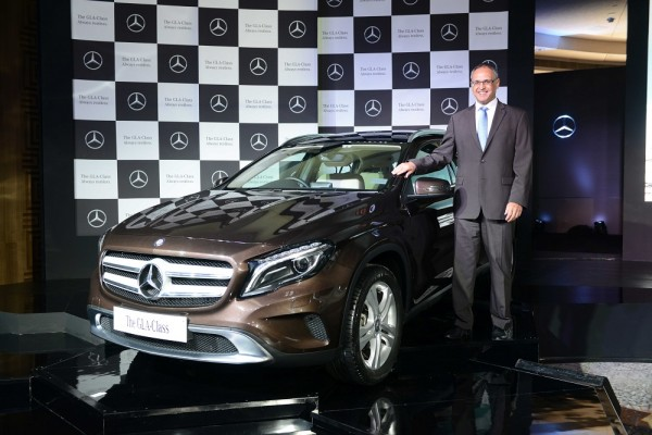 Mr. Eberhard Kern, Managing Director & CEO, Mercedes-Benz India with newly launched GLA-Class