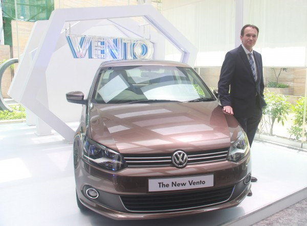 Mr. Michael Mayer, Director, Volkswagen Passenger Cars at the launch of New Volkswagen Vento 1.5 TDI with DSG (1)
