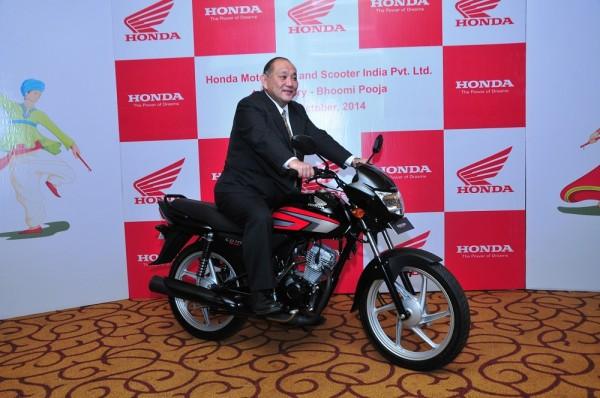 Mr. Keita Muramatsu, President & CEO, HMSI at their 4th plant Bhoomi Pujan in Gujarat