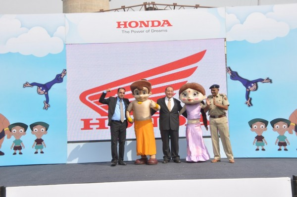 Honda brings Chhota Bheem and Chutki to Delhi_ promotes road safety among children at Dilli Haat, Pitampura