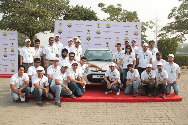 Maruti Young Driver Finalists with_the Grand Prize in New Delhi