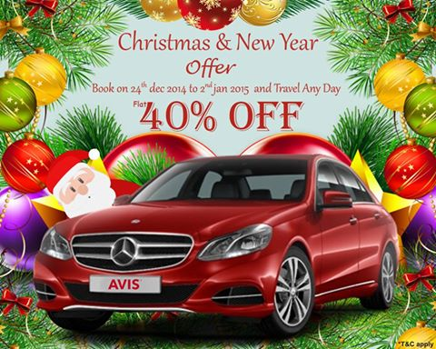 Avis Christmas offer 2014