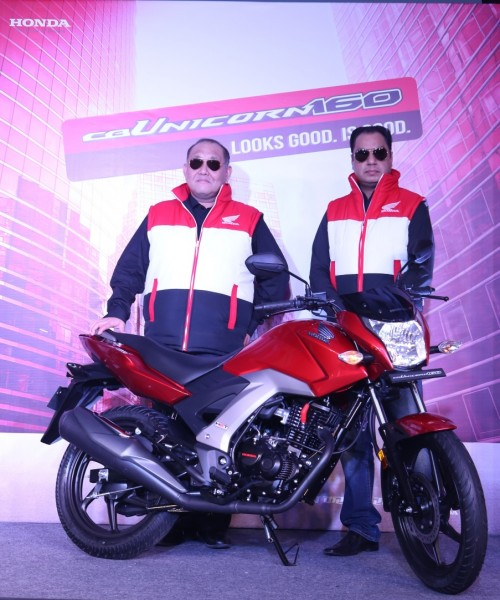 Honda CB Unicorn 160 cc launch - Mr. Keita Muramatsu, President & CEO, HMSI & Mr. Y.S. Guleria, VP, Sales & Marketing, HMSI