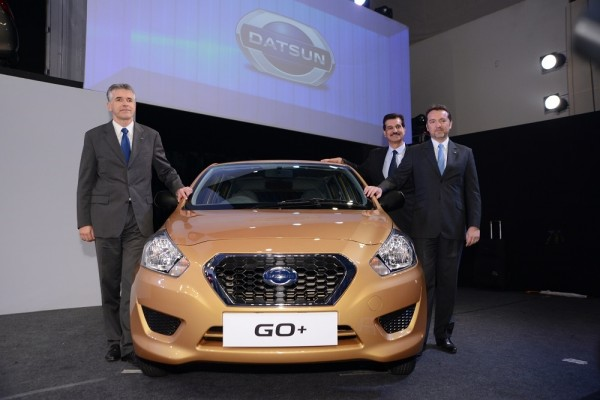 Mr. Vincent Cobee, Global Head - Datsun, Mr. Guillaume Sicard, President - Nissan India Operations and Mr. Arun Malhotra, MD - Nissan Motor India