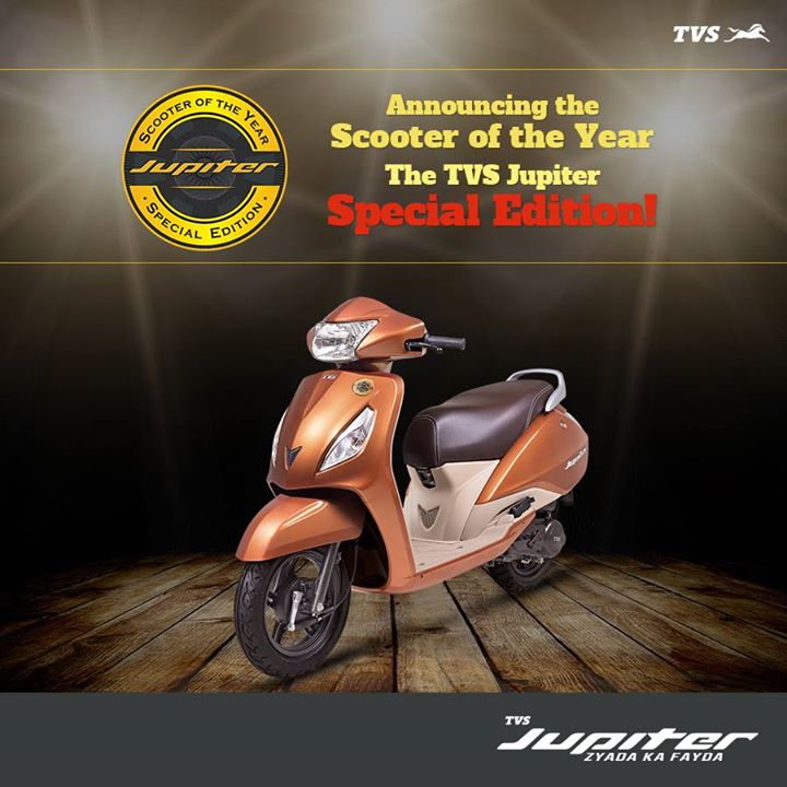 The special edition will be sold in limited numbers tvs jupiter has
