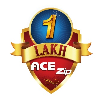 Ace Zip 1 lakh logo