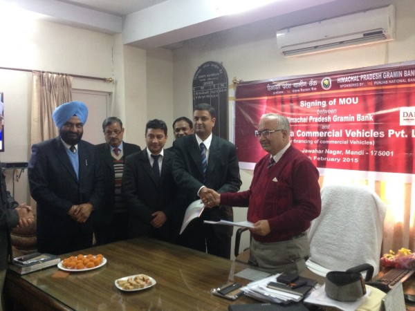 Daimler India Commercial Vehicles signs MoU with Himachal Pradesh Gramin Bank