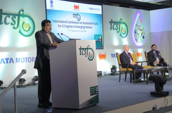 Mr Nitin Gadkari, Hon'ble Union Cabinet Minister of Road Transport, Highways and Shipping atTata Motors and TERI conference on sustainable fuels