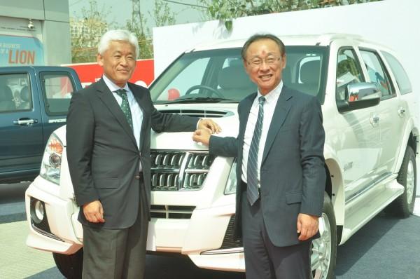 Mr Takashi Kikuchi, MD & Mr Shigeru Wakavayashi, DMD, ISUZU Motors India launching MU 7 for the Haryana market, Isuzu Gurgoan