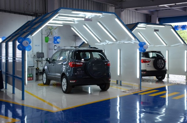 Quality Check Bays at recently launched Ford Vehicle Personalisation Centre in Chennai