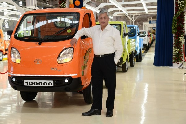 Tata Motors today celebrated the roll-out of its 100,000th Tata ACE ZIP