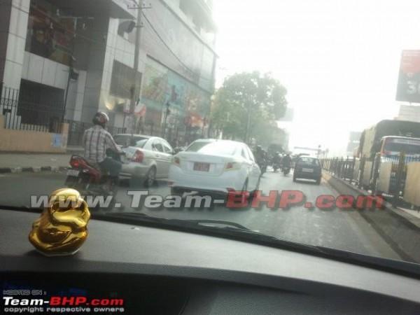 Toyota Vios rear testing India