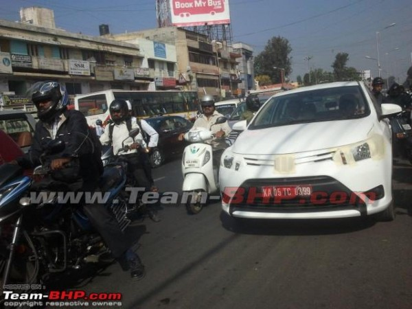 Toyota Vios testing India