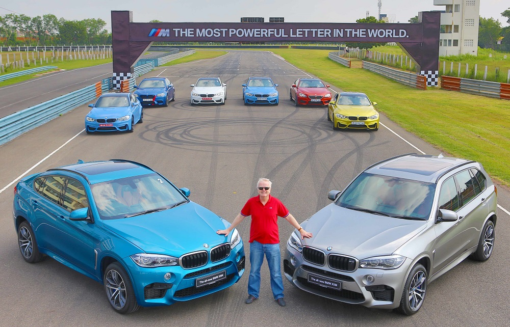 Mr. Philipp von Sahr with the all-new BMW X5M and the all-new BMW X6M (2...
