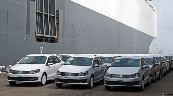Made in India Volkswagen get shipped to Argentina