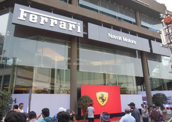 Ferrari Mumbai showroom (1)