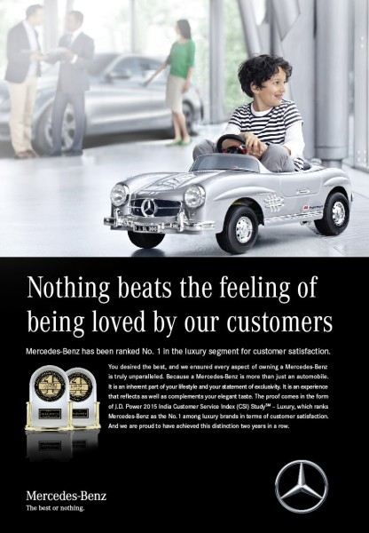 Mercedes-Benz takes the highest rank in J.D. Power Customer Service Index