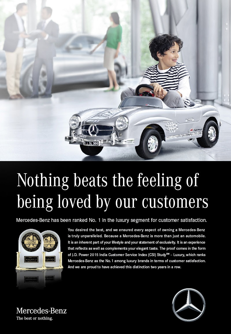 Mercedes benz takes the highest rank in j d power for Mercedes benz customer service email address