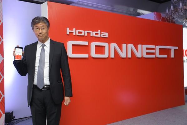 Mr. Katsushi Inoue, President & CEO, Honda Cars India Ltd. at the launch of Honda Connect
