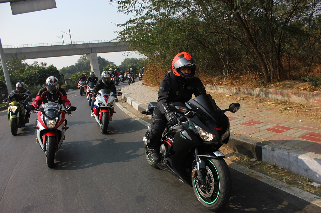 Honda Big Bike Ride in Progress